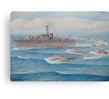 Flotilla 25, Royal Marines, Malaya 1945 Canvas Print