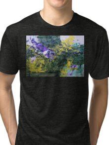 "Original Art Large Wall Art - ""Progress"" - Modern Abstract Expressionism Painting Tri-blend T-Shirt"