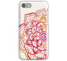 Watercolor Medallion in Sunset Colors iPhone Case/Skin
