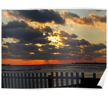 Sunset in Westbrook, CT Poster