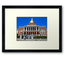 Massachusetts State House. Framed Print