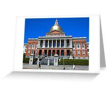 Massachusetts State House. Greeting Card