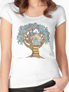 Live Simply, Love Trees Women's Fitted Scoop T-Shirt