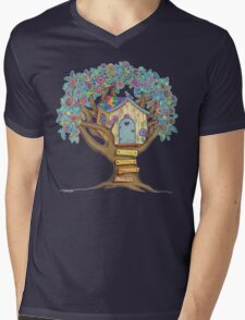 Live Simply, Love Trees Mens V-Neck T-Shirt