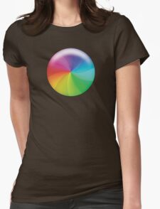 Rainbow Wheel of Death! Womens Fitted T-Shirt