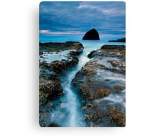 Splitting Stone Canvas Print