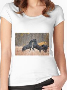 Horsing Around Women's Fitted Scoop T-Shirt