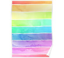 Summer Sorbet Rainbow Stripes Poster