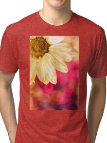 Daisy - Golden on Pink Tri-blend T-Shirt