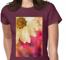 Daisy - Golden on Pink Womens Fitted T-Shirt