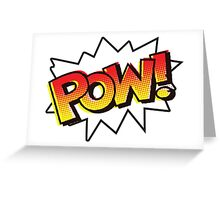 POW! Onomatopoeia Greeting Card