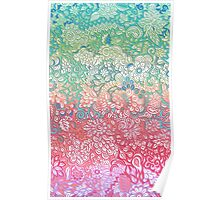 Soft Pastel Rainbow Doodle Poster
