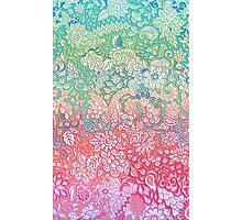 Soft Pastel Rainbow Doodle Photographic Print