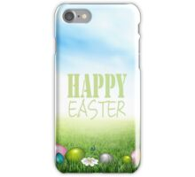 Easter Background iPhone Case/Skin