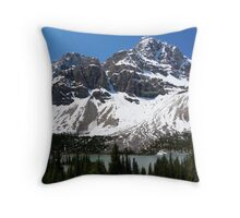 Crowfoot Glacier Throw Pillow
