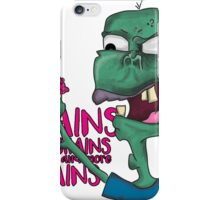 Brains! - Zombie Design - Brains, Brains and more Brains! iPhone Case/Skin