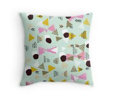 Ralea - abstract design triangle geometric circle print texture dots mid century modern  Throw Pillow