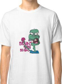 Brains! - Zombie Design - Brains, Brains and more Brains! Classic T-Shirt