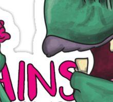 Brains! - Zombie Design - Brains, Brains and more Brains! Sticker