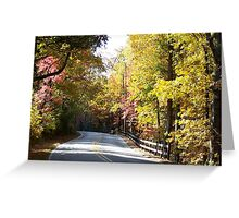 Mountain Road in Autumn Greeting Card