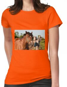 Horse By Cedar Fence Womens Fitted T-Shirt