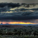 Rain Showers Over The Pinnacles by Rod Wilkinson