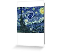 Doctor Who - Starry night Greeting Card
