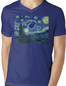 Doctor Who - Starry night Mens V-Neck T-Shirt