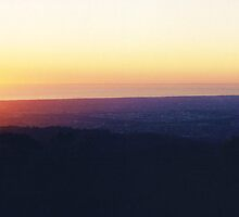 Mount Lofty Sunset by Michael John