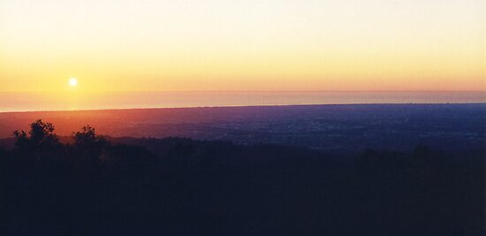 Mount Lofty Sunset by Michael John