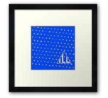 Diamondfall Blue Ribbon Framed Print