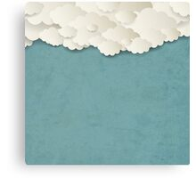 Vintage Background With Clouds Canvas Print