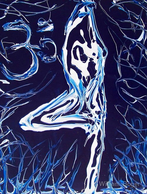 Abstract Impressionism Yoga  by William  Boyer