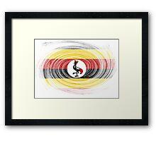 Uganda Twirl Framed Print