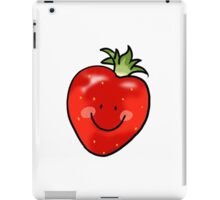 Red strawberry fruit iPad Case/Skin
