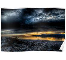 Sunset on the Salton Sea Poster