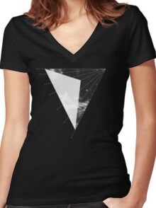 Dark Side. Women's Fitted V-Neck T-Shirt