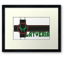 the proud country of latveria Framed Print