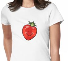 Red strawberry fruit Womens Fitted T-Shirt