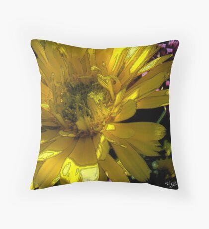 (Nov) yellow wild flower Throw Pillow