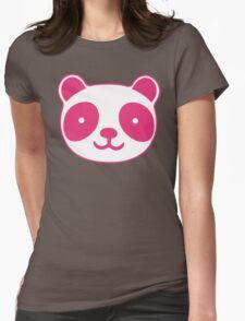 Pink Panda Womens Fitted T-Shirt
