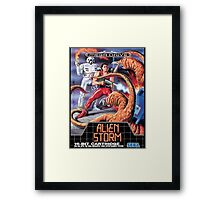 Alien Storm Mega Drive Cover Framed Print