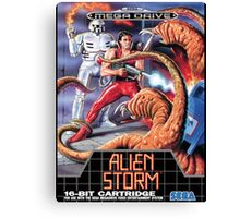 Alien Storm Mega Drive Cover Canvas Print