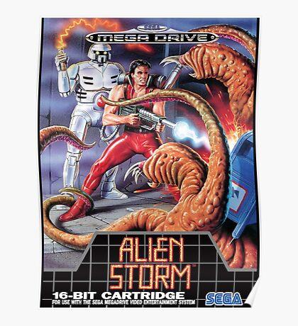 Alien Storm Mega Drive Cover Poster