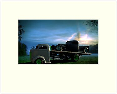 """1940 Ford Cab Over Roll Back Truck with Rat Rod"""" by TeeMack ..."""