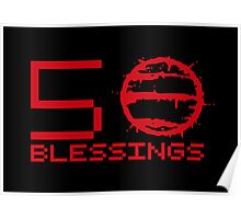 Hotline Miami: 50 Blessings - Text Poster