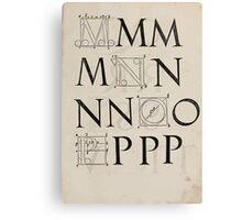 Measurement With Compass Line Leveling Albrecht Dürer or Durer 1525 0133 Alphabet Letters Calligraphy Font Canvas Print