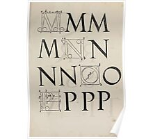 Measurement With Compass Line Leveling Albrecht Dürer or Durer 1525 0133 Alphabet Letters Calligraphy Font Poster