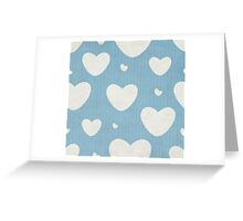Grunge Pattern With Hearts Greeting Card