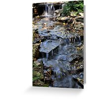 A Brook In The City Greeting Card